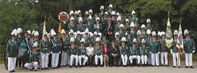 Gruppenbild der Schützengilde Hitzacker