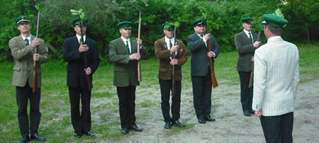 Schützenfest 2010 - II. Exerzierabend - Verpflichtung der Rekruten