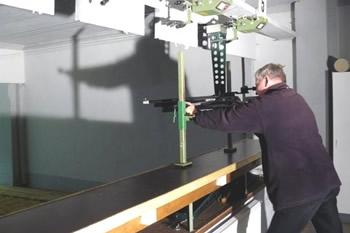 Schießstand Hitzacker Luftgewehr Auflage Schütze