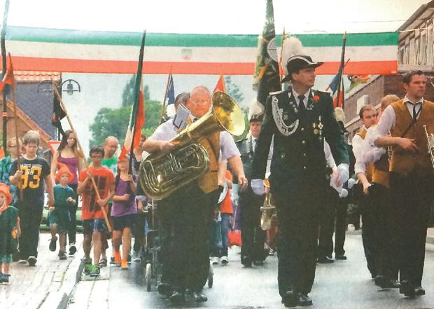 Schützenfest 2014 Kinderschützenfest Regenmarsch