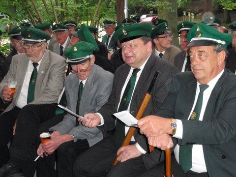 Schützenfest Hitzacker 2011 erster Exerzierabend Singen
