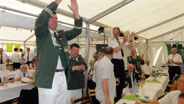 Schuetzenfest Tiessau 2013 Festzelt Feiern