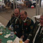 Vize Michael Hewekerl, König Frank Lehmann, Adju Jörg Sander