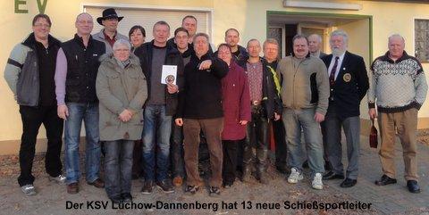 Der KSV Lüchow-Dannenberg hat 13 neue Schießsportleiter